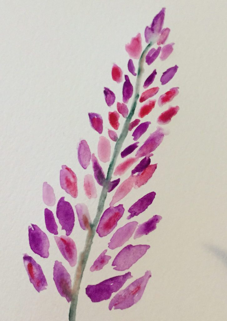 How to paint easy watercolor flowers a sprinkle of life for Simple flower paintings for beginners