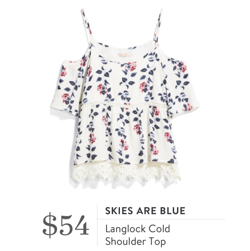 0b8904a662b1cf Skies are Blue Langlock Cold Shoulder Top – A Sprinkle of Life